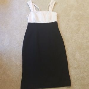EUC black and cream cocktail dress